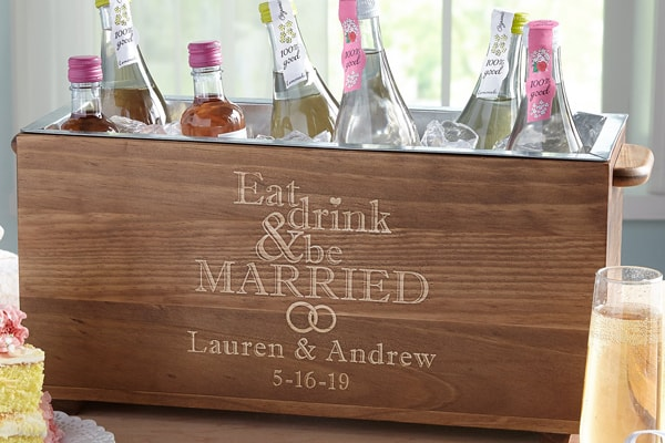 Beverage cooler for the newlyweds