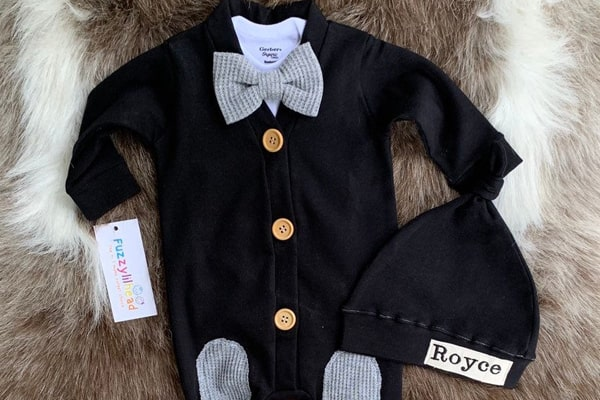 Black Romper For Baby Boy
