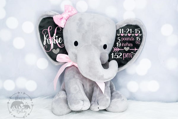Stuffed Elephant Gift For baby